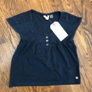 NWT Roxy Navy Blue Girls Shirt